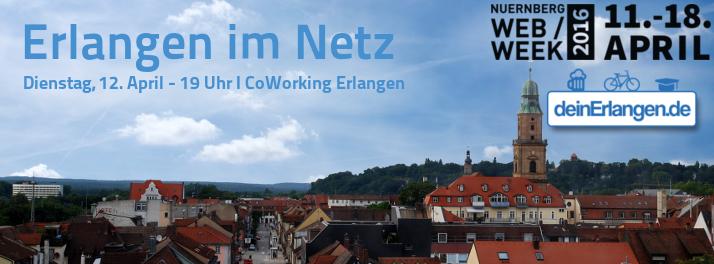 Erlangen im Netz - 12. April 19 Uhr im CoWorking Erlangen